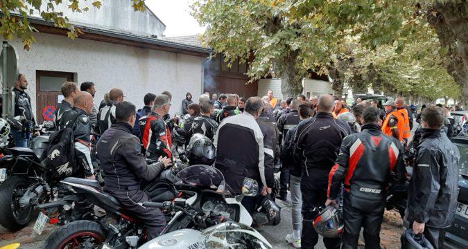 A Lons-le-Saunier, plus de 100 motards rendent hommage à Yohann Cornu