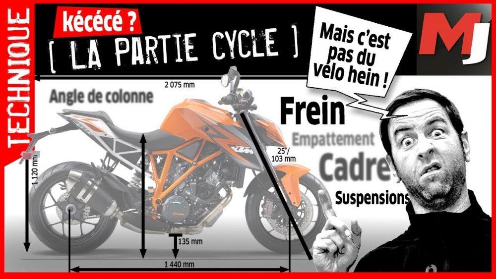 Comment ça marche : la partie cycle d'une moto