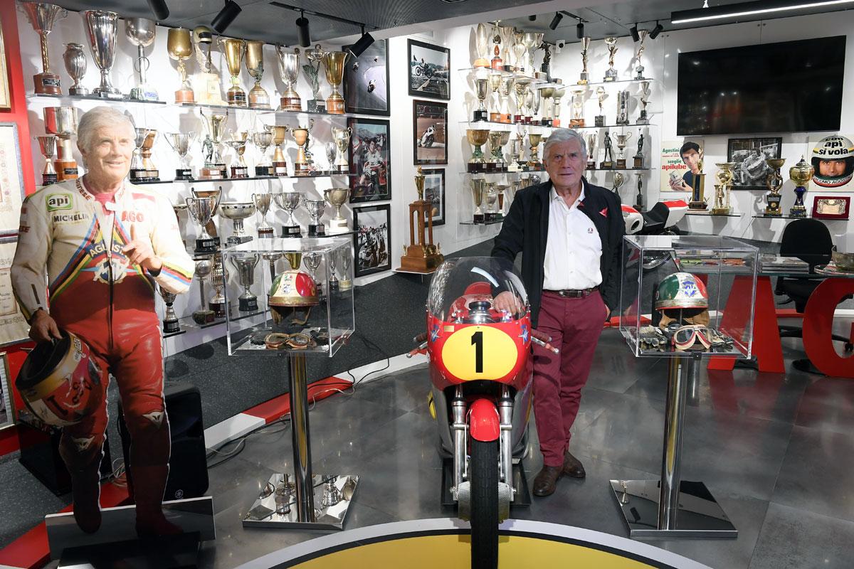 Un musée ouvre en honneur à la légende Giacomo Agostini