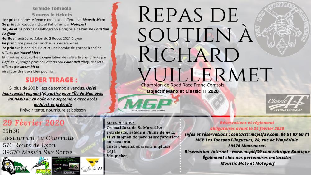 Repas de soutien au champion Franc-Comtois de Road-Race Richard Vuillermet
