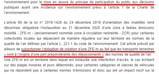 ZFE : restriction de liberté de circulation infinie