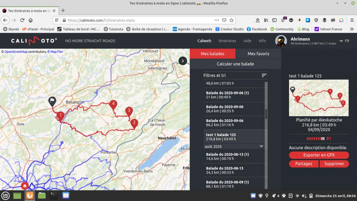 Essai : Calimoto: Application GPS spécial motard. Mieux qu'un GPS physique?